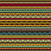 Abstract Seamless Ethnic Pattern — Stock Vector