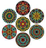 Set Of Brigh Circle Patterns — Stock Vector