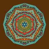Bright Ethnic Geometric Pattern — Stock Vector