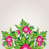 Soyut haşhaş ile çiçek arka plan — Stok Vektör