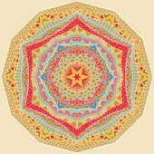 Ethnic Geometric Bright Pattern — Stock Vector