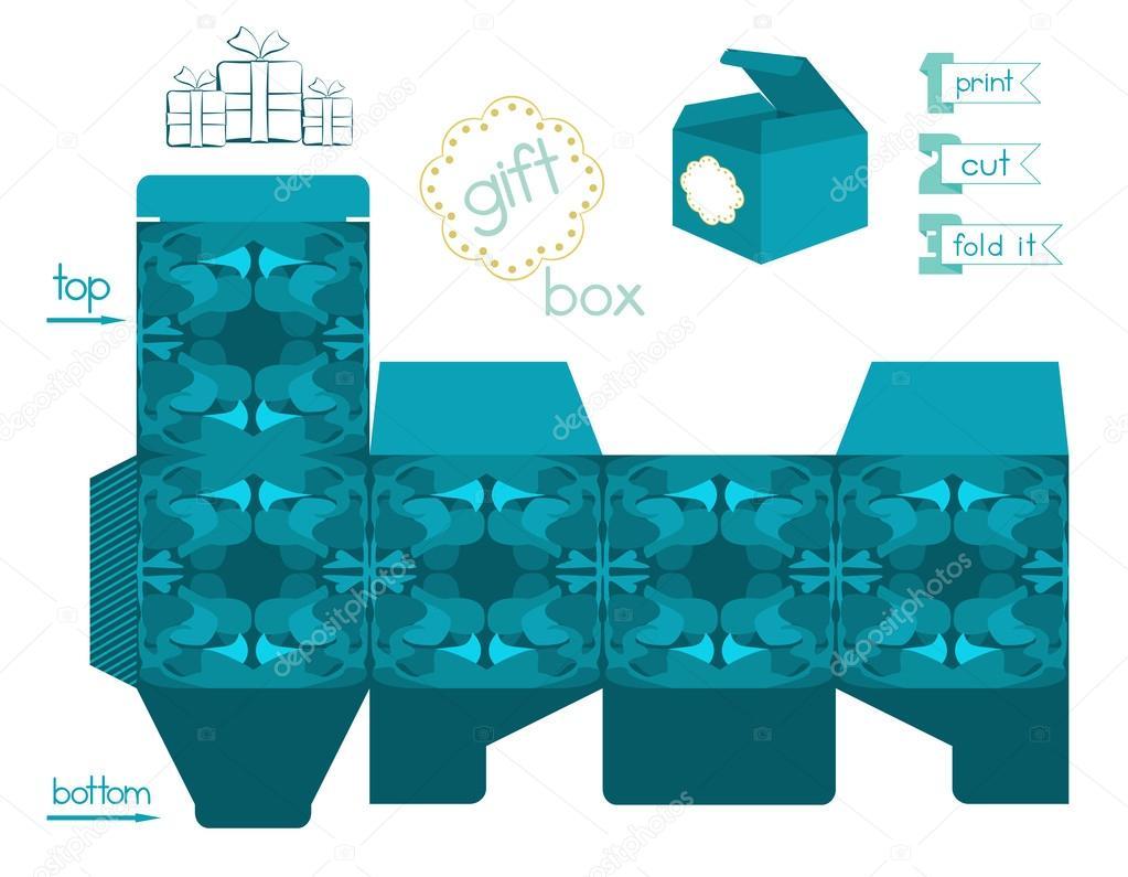 40 Imágenes Abstractas Para Descargar E Imprimir: Caja De Regalo Para Imprimir Con Patrón Abstracto