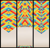Bright Geometric Pattern at Set of Cards — Stock Vector