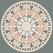 Disc With Aboriginal Art — Stock Vector