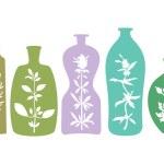 Aromatic Herbs in Bottles — Stock Vector #49643991