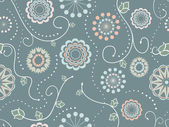 Decorative Floral Seamless Pattern — Stock Vector