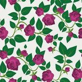 Crimson rozen naadloze patroon — Stockvector