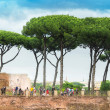 House of Augustus Domus Augustana Palatine Hill in Rome — Stock Photo