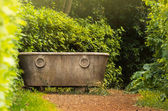 Antique bath in garden — Stock Photo