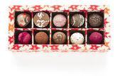 Caixa de fundo de chocolate branco — Fotografia Stock