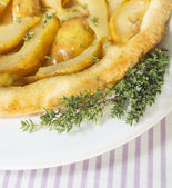 Pear tarte with thyme — Stock Photo