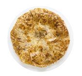 Turkish Burek, filo pastry , Turkish pie in white plate, isolated — Stock Photo
