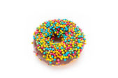 Delicious Donut Isolated on White Background — Stock Photo