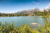 Beautiful Lake Strbske Pleso in High Tatras of Slovakia — Stock Photo