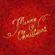 Merry christmas text on red background — Stock Vector #32792557