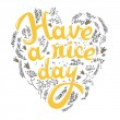 Have a nice day greeting card — Stock Vector