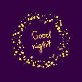 Good night card — Stock Vector