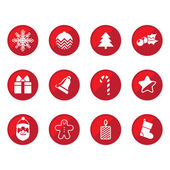 Christmas flat icons — Stock Vector