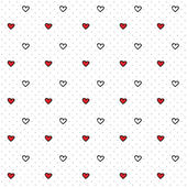 Seamless heart pattern for design and blog — Stock Vector