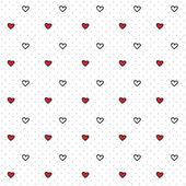 Dikişsiz kalp desen tasarım ve blog için — Stok Vektör