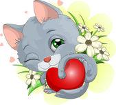 Gentle kitty — Stock Vector
