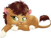 Little leon — Stock Vector
