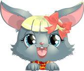 Rabbit face — Stock Vector