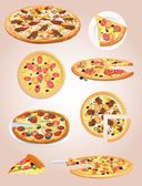 Pizza — Stock Vector