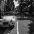 Retro car on Amsterdam streets — Stock Photo