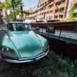 Retro car on Amsterdam street — Stock Photo