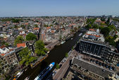 View to Amsterdam from the rooftop — 图库照片