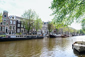 A canal in Amsterdam — Foto Stock