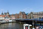 Station amsterdam centraal kvarter — Stockfoto