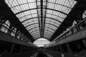 Inside the Central railway station in Antwerpen — Stock Photo