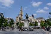 A monument in Antwerpen — Foto de Stock