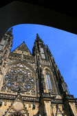 Part of the st.Vitt Cathedral in Prague — Stock Photo