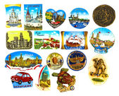 Collection of magnets — Foto de Stock