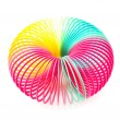 Stock Photo: Slinky toy as cirlce on white background