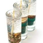 丸いガラスの燭台キャンドル — ストック写真