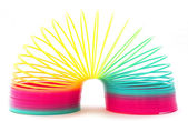 Slinky toy on white background — Stock Photo