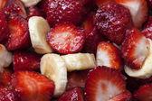 Strawberrys and bananas — Stock Photo