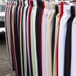 Trousers at street market — Stock Photo