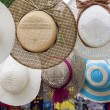 Picture hat at street market — Stock Photo