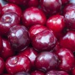 Cherries at street market — Stock Photo