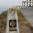 Stock Photo: Milestone at Finisterre the end of the Way