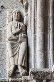 Statue and architecture details at Santiago Cathedra — Stock Photo