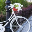 Bike decorated — Stock Photo