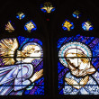 Stained glass church window at Palencia cathedra — ストック写真