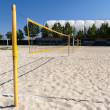 Beach volleyball net — Stock Photo
