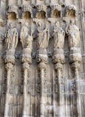 Architecture detail at palencia cathedral — Stock Photo